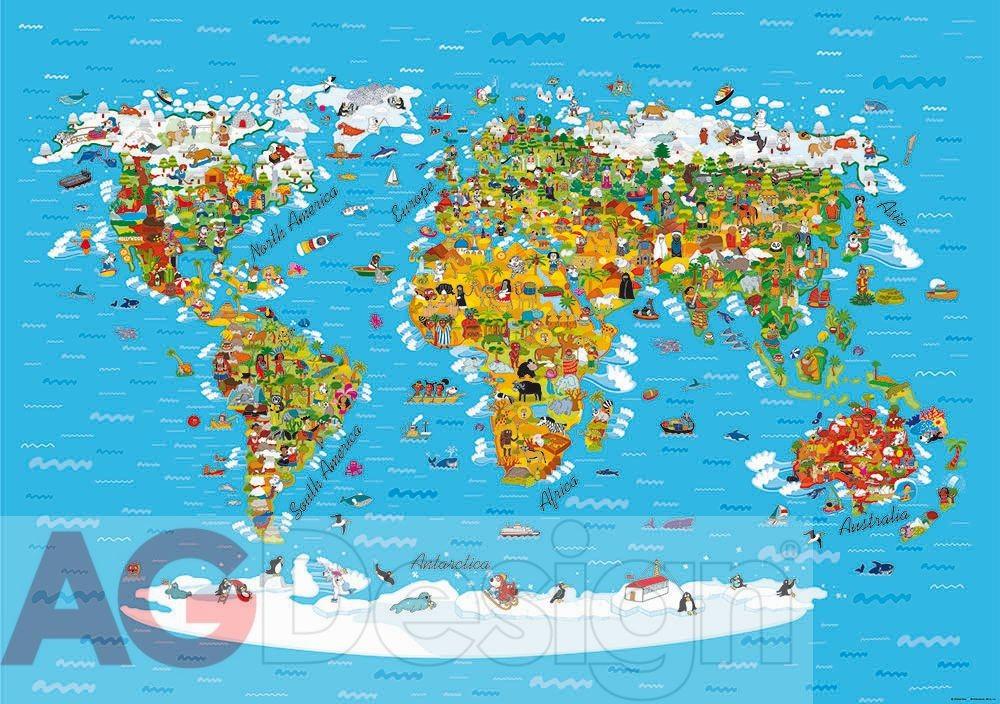 fototapeta mapa sveta Fototapeta na stenu štvordielna FTS 1320 mapa sveta, veľkosť  fototapeta mapa sveta